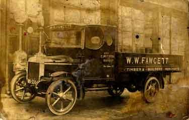 W. W. Fawcett, timber and builders merchant's truck, 1920s