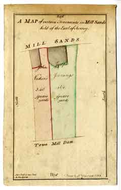 Map of certain tenements in Mill Sands held of the Earl of Surrey