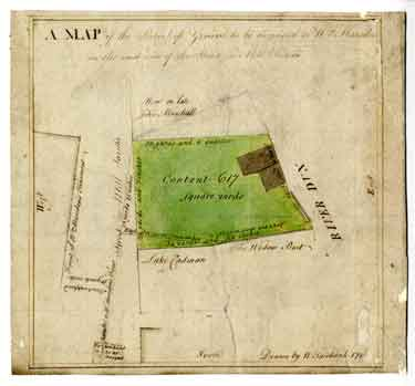 Map of the parcel of ground to be demised to William Marsden on the east side of the Street in Mill Sands [Millsands], 178[9]