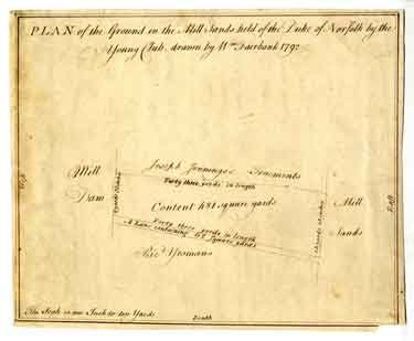 Plan of the Ground in the Mill Sands [Millsands] held of the Duke of Norfolk by the Young Club