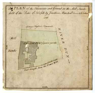 Plan of the tenements and ground in the Mill Sands held of the Duke of Norfolk