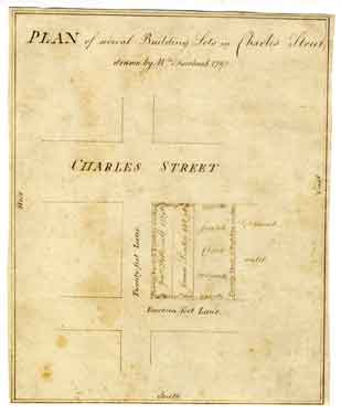 Plan of several building lots in Charles Street