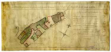 A plan of certain tenements and ground belonging to the Duke of Norfolk in the Far Gate [Fargate], [1770s]