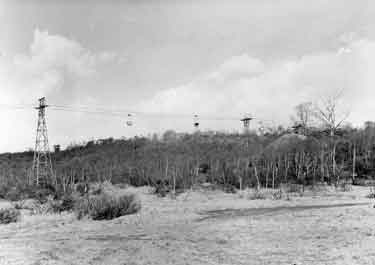 Smithy Wood, Ecclesfield showing the aerial ropeway to Rockingham Colliery