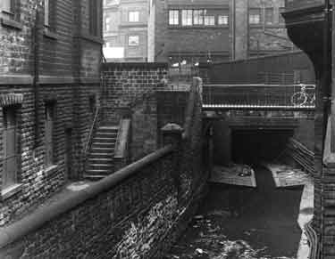 Culverting the River Porter for the widening of St. Mary's Gate, June 1956 - August 1958