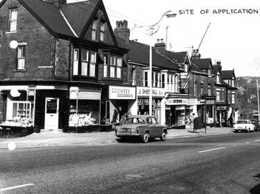 Ecclesall Road, Nos. 884 - 898, and junction with Huntingtower Road