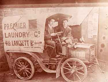 Lorry of the Premier Laundry Company, No. 419 Langsett Road