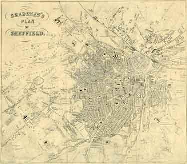 Bradshaw's Plan of Sheffield