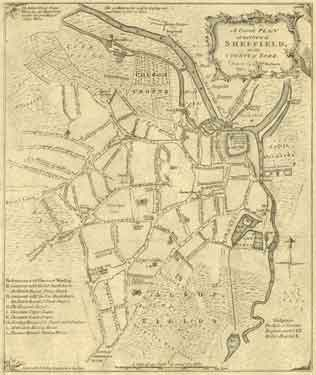 A correct plan of the town of Sheffield by William Fairbank