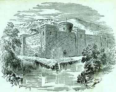 Sheffield Castle  as it appeared in the year 1066
