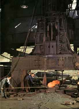 Moss and Gamble Bros. Ltd., Franklin Works, Fox Hill Road, Wadsley Bridge - the largest steam hammer of its kind in Great Britain