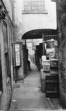 Rear of Chantrey's Studio, Geo. Thos. Wilkinson (GTW) Newsholme, Chemist, No. 74 High Street (corner with Change Alley)