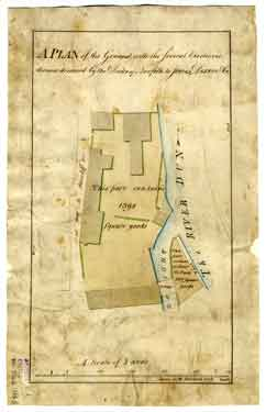 A plan of the ground with the several erections thereon demised by the Duke of Norfolk to Jones, Dixon and Co