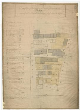 A plan of a piece of land situate on the east side of a certain street commonly called Blind Lane belonging to Messrs Butler and Wright