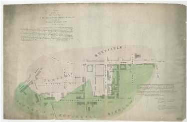 Plan of part of the townships of Sheffield and Ecclesall Bierlow, shewing the ancient boundary line