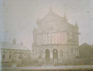 Woodhouse Wesleyan Church, Chapel Street, Woodhouse, showing schoolroom alongside, c. 1880