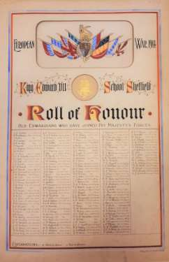 King Edward VII School, roll of honour - old Edwardians who have joined His Majesty's Forces
