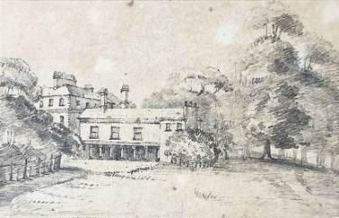Norton Hall, drawn by L. Shore, c. 1815 - 1846