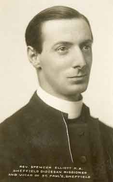 The Rev. Spencer Elliott, M.A., Sheffield Diocesan Missioner and vicar of St. Paul's C. of E. Church, Pinstone Street