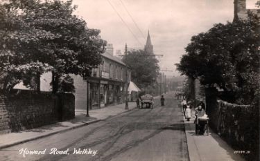 Howard Road, Walkley showing (back centre) St. Mary's C. of E. Church