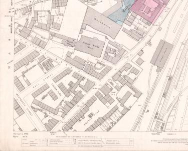 Ordnance Survey Map, sheet no. Yorkshire 289-11-6 (south west)