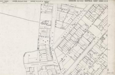 Ordnance Survey Map, sheet no. Yorkshire 294-3-17 (north east)