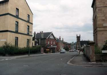 Broomhall Street at the junction with (right) Broomhall Place and (left) Wharncliffe Road