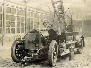 Sheffield Fire Brigade's Motor Escape at West Bar Green Fire Station