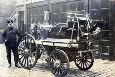 City of Sheffield Fire Brigade. Fire engine