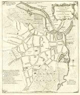 A complete plan of the Town of Sheffield by William Fairbank
