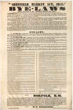 Byelaws made pursuant to the Sheffield Market Act, 1847