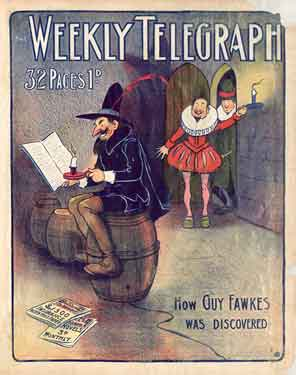 Sheffield Weekly Telegraph poster: How Guy Fawkes was discovered