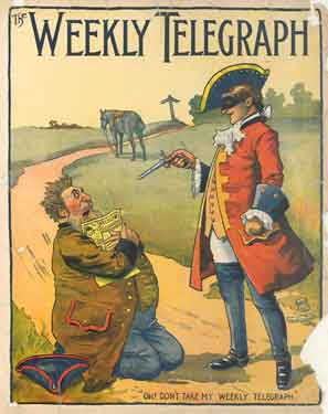 Sheffield Weekly Telegraph poster: Oh! Don't take my Weekly Telegraph