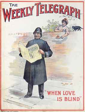 Sheffield Weekly Telegraph poster: When love is blind