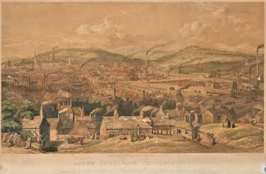 South East View of Sheffield respectfully inscribed to Alderman Thomas Dunn esquire by his faithful servant William Ibbitt