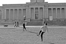 View: C03412 Football game outside Mappin Art Gallery, Weston Park
