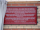 View: a00035 Plaque commemorating the rededication of the Great Central Railway war memorial