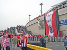 View: a00294 Sheffield United fans at Wembley Stadium for the Championship play-off final against Burnley