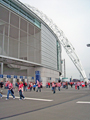 View: a00298 Sheffield United supporters outside the Wembley Stadium before the Championship play-off final against Burnley