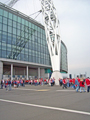 View: a00301 Sheffield United supporters outside Wembley before the Championship play-off against Burnley