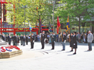 View: a00365 Official commemoration service of the D-Day landings of 6 June 1944 at the Barker's Pool war memorial, attended by members of the Normandy Veterans Association