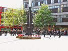 View: a00369 Official commemoration service of the D-Day landings of 6 June 1944, held at the Barker's Pool War Memorial and attended by the Normandy Veterans Association and others.