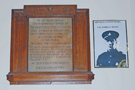 View: a00444 Memorial in Clifford School Hall to Arnold Loosemore, VC