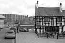 View: c03277 The Old Queens Head P. H., No. 40 Pond Hill with Park Hill Flats in the background