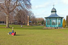 View: c03416 Bandstand, Weston Park with Kuljit Singh playing football