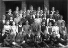 View: m00016 Class photograph 4th? year 1946, Hatfield House Lane Secondary Modern School, Mr. Thorpe, form teacher