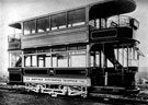 Double decker tram No. 296 at Brush Works, Loughborough. New on 20/10/1913, Withdrawn 28/06/1934