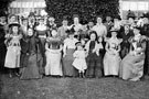 Guests at wedding of Beatrice Lowe, Ivy Cottages, Shiregreen