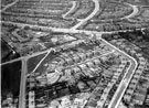 Aerial View of Arbourthorne. East Bank Road, centre.  Hurlfield Road, Hurlfield Drive and Gleadless Common, foreground. Dagnam Road, Atherton Road, Bazley Road and Dagnam Crescent in background
