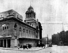 Cinema House, Fargate (later renamed Barker's Pool). Designed by H.E. Farmer, opened 6th May 1913. Closed 12th August 1961 and demolished for redevelopment. Queen Victoria Monument in background